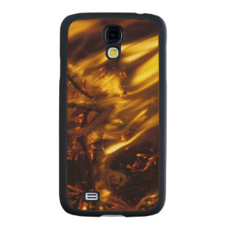 Long Flames Burning Carved® Maple Galaxy S4 Slim Case