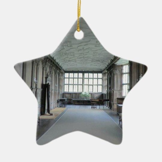 Long Gallery at Haddon Hall Ceramic Ornament