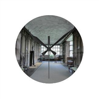 Long Gallery at Haddon Hall Round Wall Clocks
