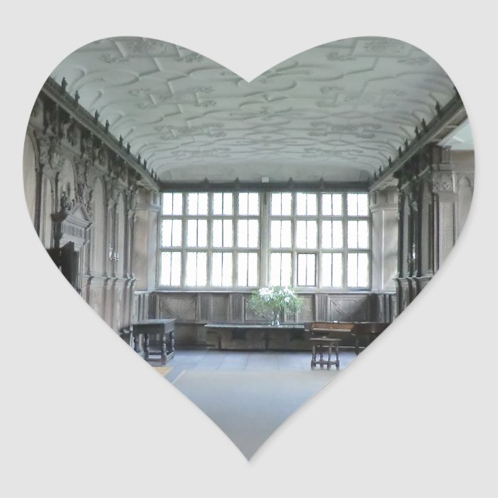 Long Gallery at Haddon Hall Heart Sticker