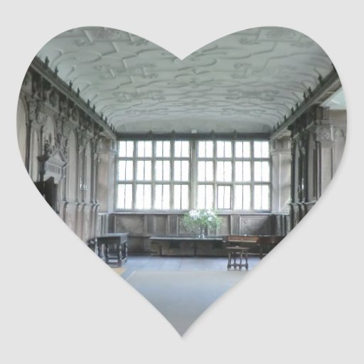 Long Gallery at Haddon Hall Heart Stickers