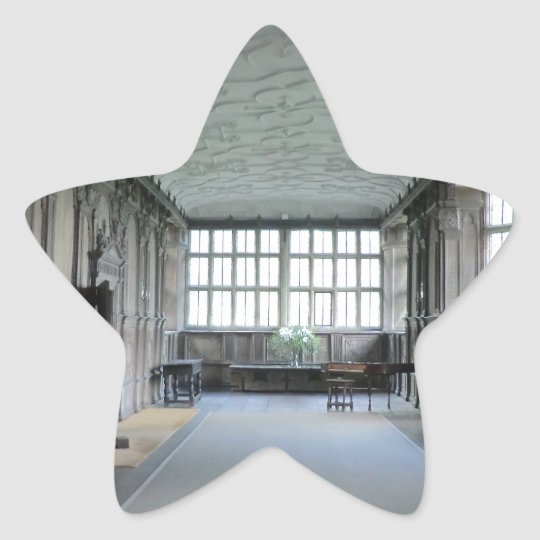 Long Gallery at Haddon Hall Star Sticker