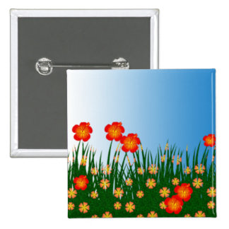 Long garden patch 2 inch square button