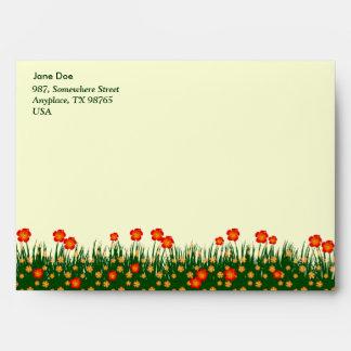 Long garden patch envelopes