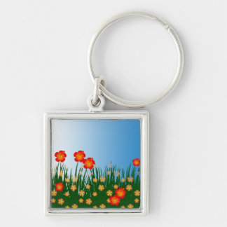 Long garden patch keychains