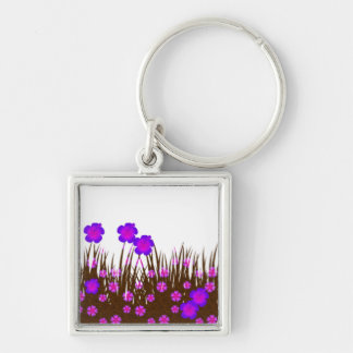 Long garden patch key chains