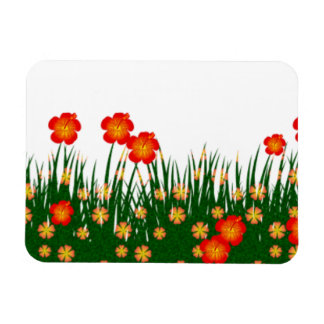 Long garden patch vinyl magnets