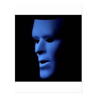 Long Ghost Looking Faced Mask.jpg Postcard