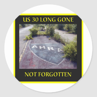 Long Gone Classic Round Sticker