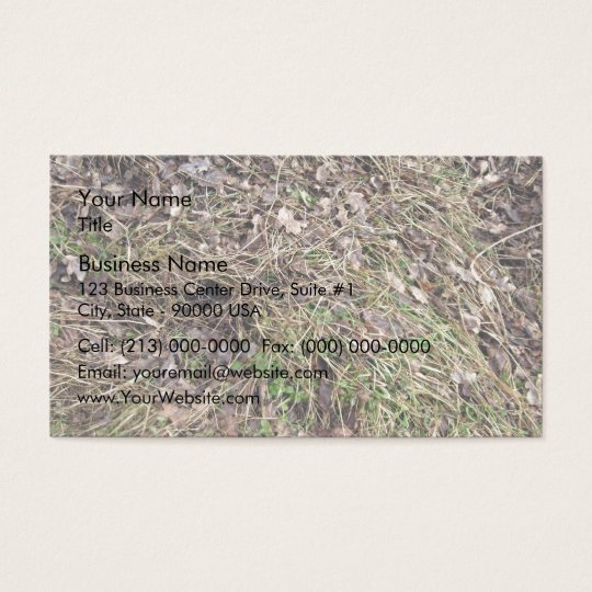 Long grass with leaves business card