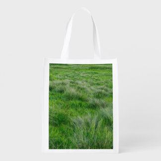 Long grasses in a vast grassland grocery bags