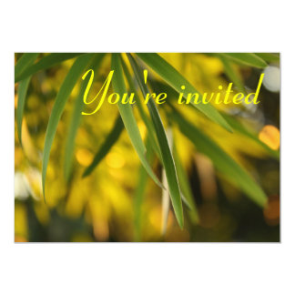 Long green leaves Invitation