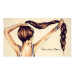 Long Hair Beauty Double-Sided Standard Business Cards (Pack Of 100)