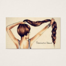 Long Hair Beauty Business Card at Zazzle