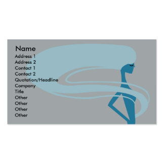 Long Hair - Business Double-Sided Standard Business Cards (Pack Of 100)