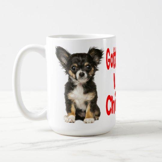 Long Hair Chihuahua Puppy Dog Red Love Coffee Mug