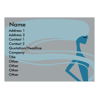 Long Hair - Chubby Large Business Cards (Pack Of 100)