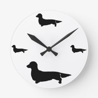 Long Hair Dachshund Wall Clock