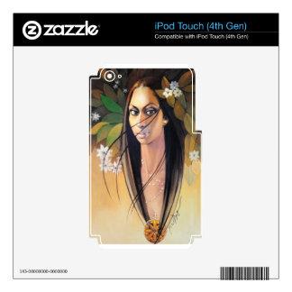 Long Hair Girl Skin For iPod Touch 4G