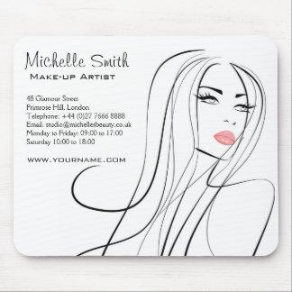 Long Hair hairdresser make up artist  branding Mouse Pad
