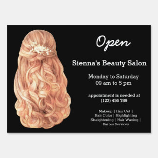 Long hair | Hairstylist | Hairdresser |  Salon Yard Sign