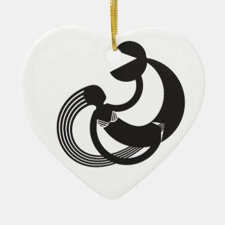 long hair mermaid girl ceramic ornament