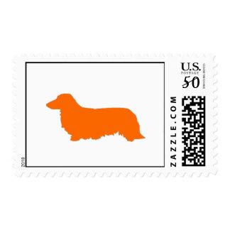Long hair Orange Dachshund stamps