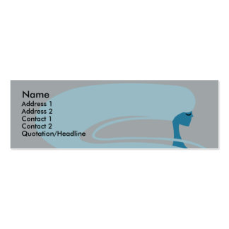 Long Hair - Skinny Double-Sided Mini Business Cards (Pack Of 20)
