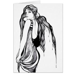 Long Hair Teen Portrait Card