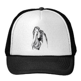 Long Hair Teen Portrait Trucker Hat