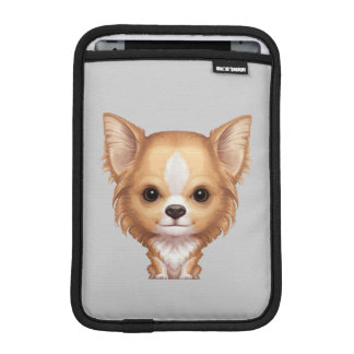 Long-Haired Beige and White Chihuahua iPad Mini Sleeve