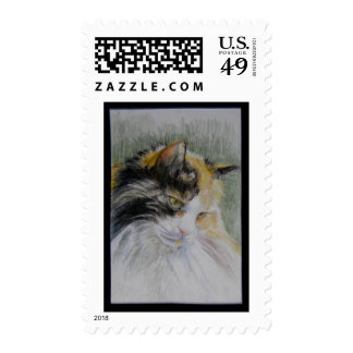 Long Haired Calico Cat Postage