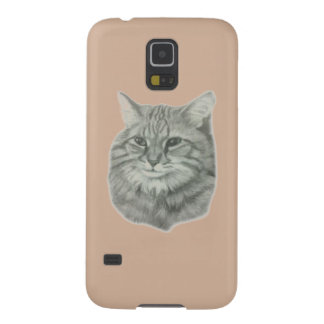 Long-haired cat original artwork by Carol Zeock Case For Galaxy S5