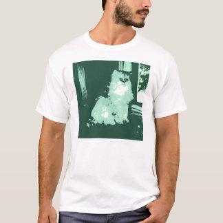 Long-haired Cat Pop Art T-Shirt