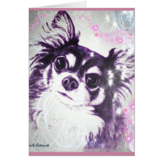 Long Haired Chihuahua Card
