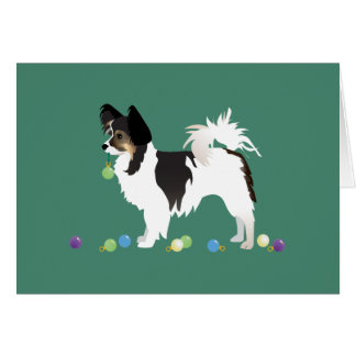 Long-haired Chihuahua Christmas Design Card