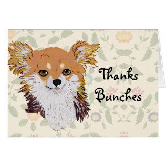 Long haired Chihuahua Custom Notecard