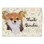 Long haired Chihuahua Custom Notecard Stationery Note Card