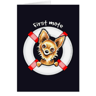 Long Haired Chihuahua First Mate Cards