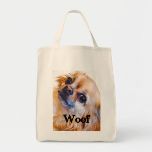Long Haired Chihuahua Grocery Bag