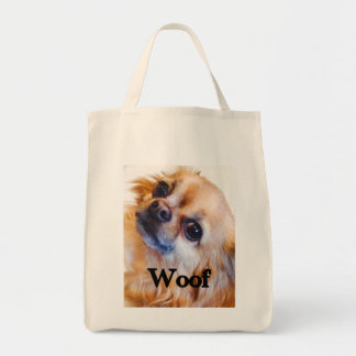 long-haired Chihuahua grocery bag