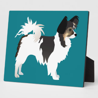 Long-haired Chihuahua or Papillon Basic Design Plaque
