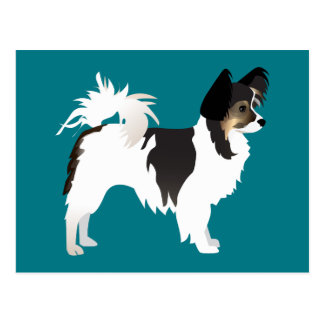 Long-haired Chihuahua or Papillon Basic Design Postcard