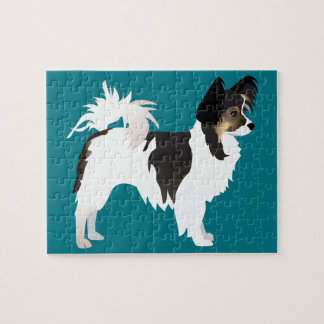 Long-haired Chihuahua or Papillon Basic Design Puzzle