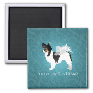 Long-haired Chihuahua Pet Memorial - Sympathy Magnet