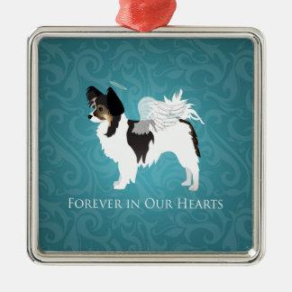 Long-haired Chihuahua Pet Memorial - Sympathy Metal Ornament