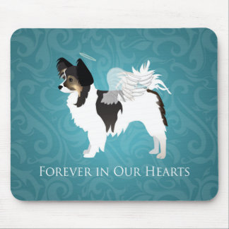 Long-haired Chihuahua Pet Memorial - Sympathy Mouse Pad
