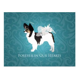 Long-haired Chihuahua Pet Memorial - Sympathy Postcard