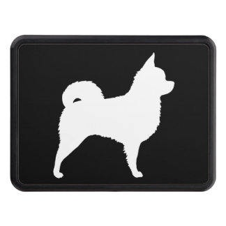 Long Haired Chihuahua Silhouette Tow Hitch Cover