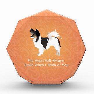 Long-haired Chihuahua Thinking of You Acrylic Award